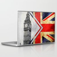 uk Laptop & iPad Skins featuring Flags - UK by Ale Ibanez