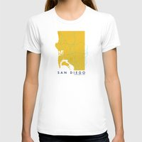 san diego T-shirts featuring San Diego Map by Roadtrippers
