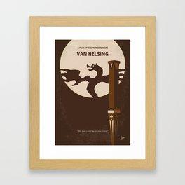 No1107 My Van Helsing minimal movie poster Framed Art Print