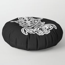 Sigil of the Lady Pirate (Black Design) Floor Pillow