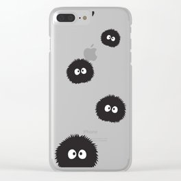Soot Sprites Trail Clear iPhone Case