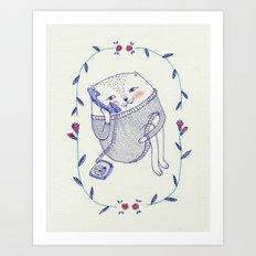 cat's story Art Print
