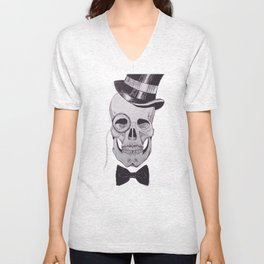Classy Skull Unisex V-Neck