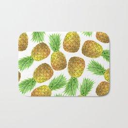 Pineapple watercolor pattern Bath Mat