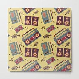 retro gadgets pattern Metal Print