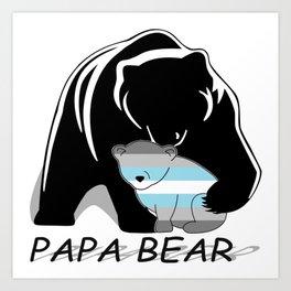 Papa Bear Demiboy Art Print