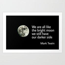 Digable's Quotable 03 Mark Twain Art Print