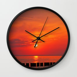 Ocean evening IV Wall Clock