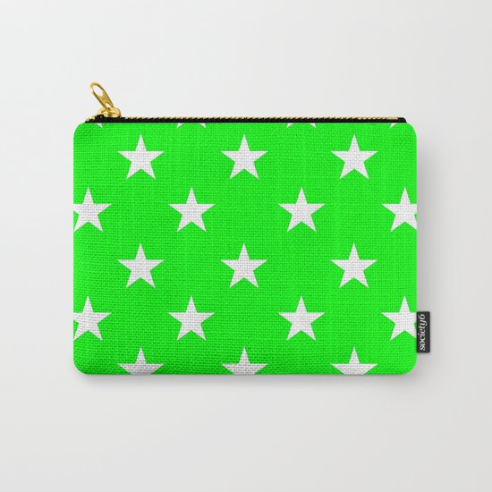Stars (White/Green) Carry-All Pouch