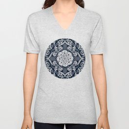 Centered Lace - Dark Unisex V-Neck