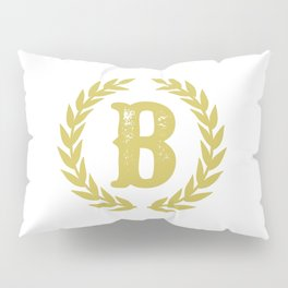 Mustard Yellow Monogram: Letter B Pillow Sham