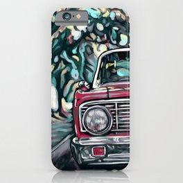 Red Car in Street iPhone Case