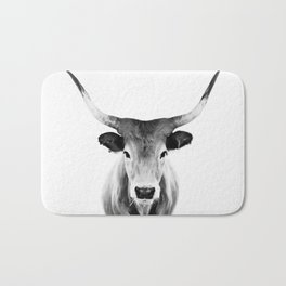 Honey - black and white Bath Mat