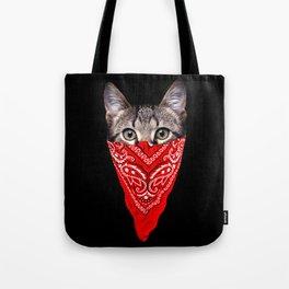 Gangster Cat Tote Bag