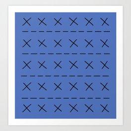 BoJack Blue Jumper Art Print