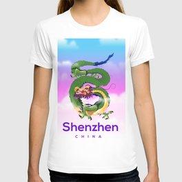 Shenzhen China Dragon travel poster T-shirt