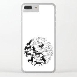 Yin Yang Horses Clear iPhone Case