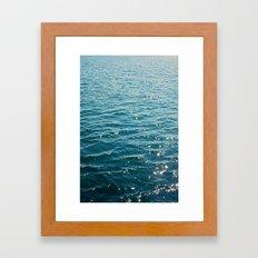 stars on the water Framed Art Print