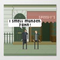 221b Canvas Prints featuring Sherlock 221B by FuliFuli