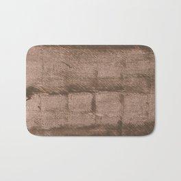 Mud abstract watercolor Bath Mat