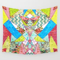 quilt Wall Tapestries featuring Geometric Quilt by Sandra Arduini