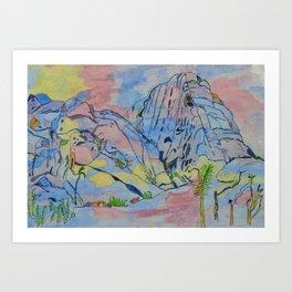 Joshua Tree National Park Inspired Watercolour Art Print