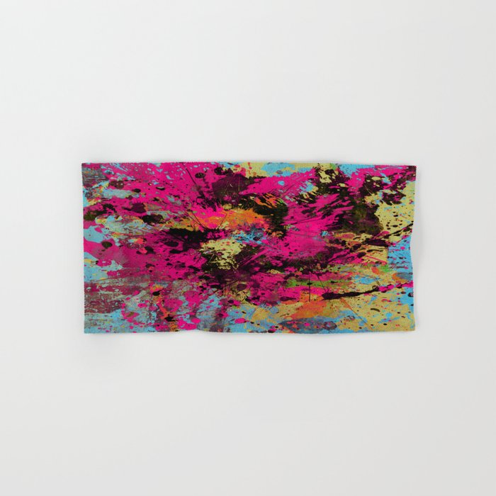 Express Yourself IV - Abstract, oil painting Hand & Bath Towel