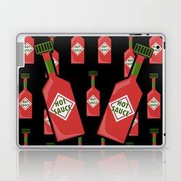 Hot Sauce on Black Laptop & iPad Skin