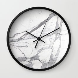 Marble White Winter  Wall Clock