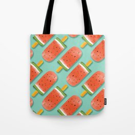 Watermelon Popsicles Pattern #society6 #decor #buyart Tote Bag