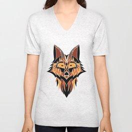 Abstract Fox Unisex V-Neck