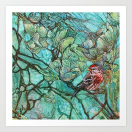The Aquamarine Labyrinth (detail no. 2) Art Print