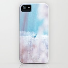 Deer In The Frosty Morning iPhone Case