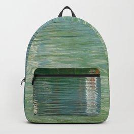 Aqua Abstract Flow Backpack