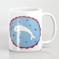 narwhal Mugs featuring Narwhal by Giulia Mauri - Illustrator