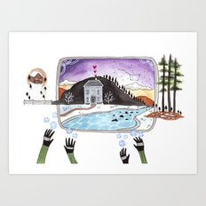 The Hands Art Print