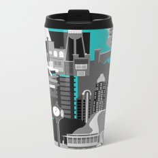 Charlotte Teal Metal Travel Mug