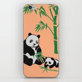 panda family iPhone Skin