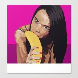 Dillion Harpers banana Canvas Print