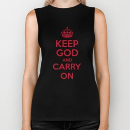 keep God and Carry On - White Book Biker Tank