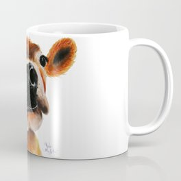 Nosey Cow ' JERSEY JOY ' by Shirley MacArthur Coffee Mug