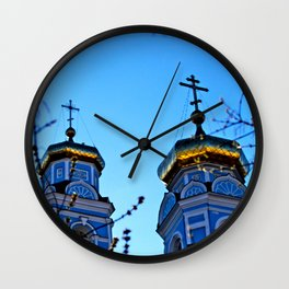 Cupolas, Church of the Ascension, Russia Wall Clock