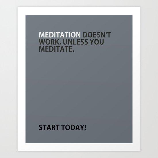 Mediation doesn't work Art Print