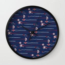 Japanese Hair Pin / Kanzashi (かんざし) Wall Clock