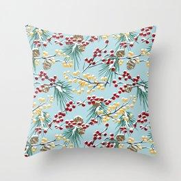 Winterberries Throw Pillow