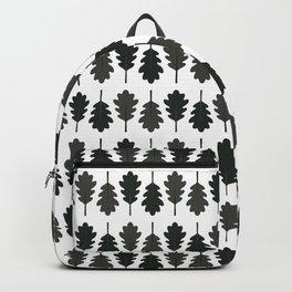 Oak Leaves Pattern (Black) Backpack