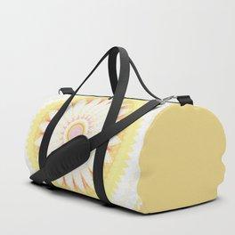 Sunshine Yellow Flower Mandala Abstract Duffle Bag