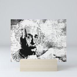 Albert Einstein - schwarz-weiß Mini Art Print