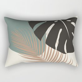 Minimal Monstera Palm Finesse #1 #tropical #decor #art #society6 Rectangular Pillow