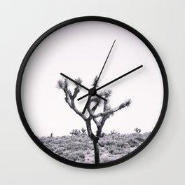 Joshua Tree Monochrome, No. 2 Wall Clock